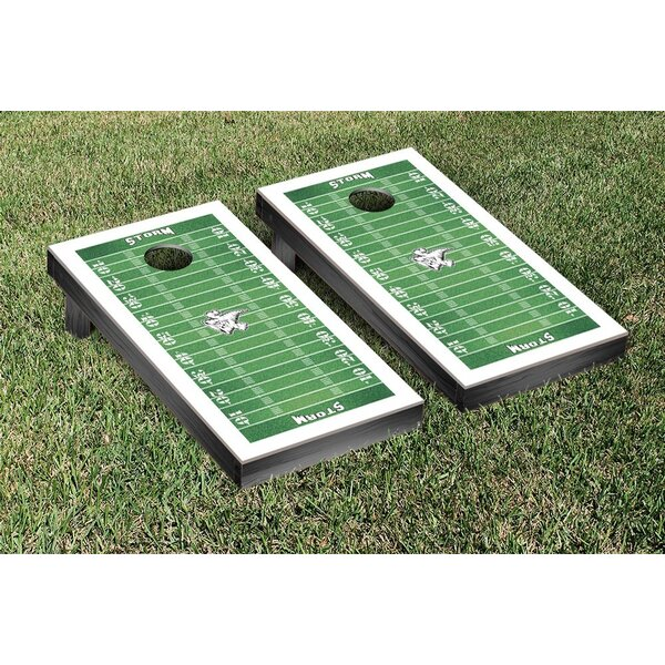 NCAA Football Field Cornhole by Victory Tailgate