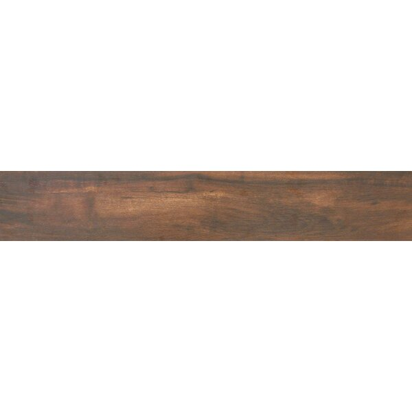 Botanica Teak 6 x 36 Porcelain Wood Tile in Glazed Textured by MSI
