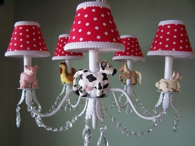 Barnyard Baby 5-Light Shaded Classic / Traditional Chandelier By Silly Bear Lighting