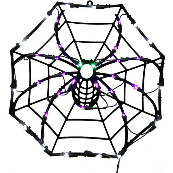 35Lt Fall Decor 35Lt LED Spider Web Window Décor by Vickerman