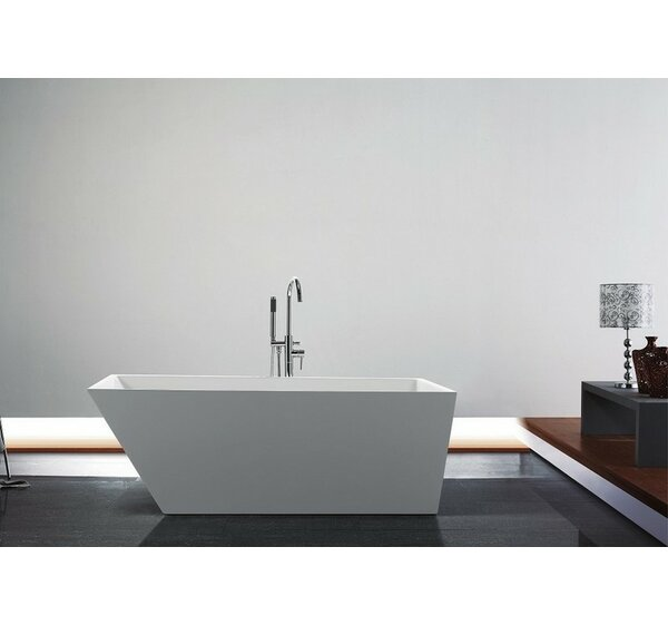 Obliquo 66 x 31 Freestanding Soaking Bathtub by Kube Bath