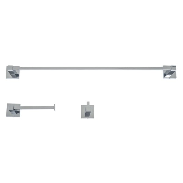 Capri 3 Piece Bathroom Hardware Set by Italia