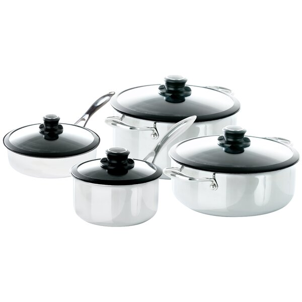 Black Cube™ 8 Piece Completion Non-Stick Stainless Steel Cookware Set by Frieling