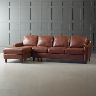 Brown Chaise Sofa Leather Sectionals Youll Love Wayfair