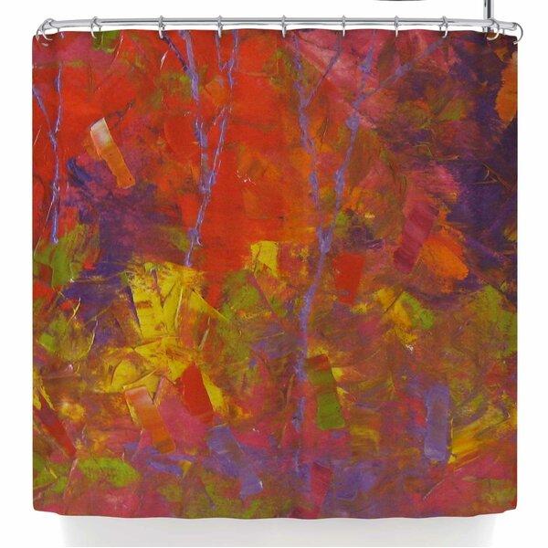 Jeff Ferst Forest Kaleidoscope Shower Curtain by East Urban Home