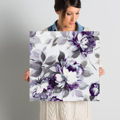 """Scent of Plum Roses II Painting Print on Wrapped Canvas Lark Manor Size: 18"""" H x 18"""" W x 0.75"""" D"""