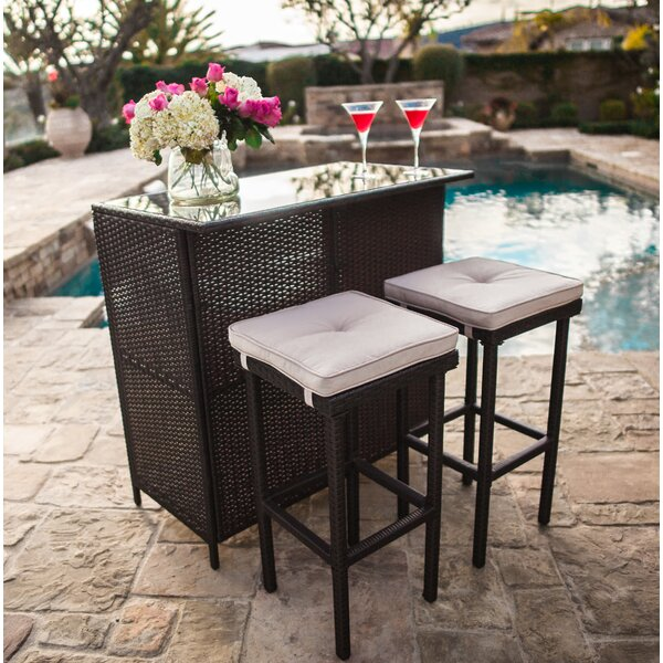 Powe Outdoor 3-Piece Bar Set By Canora Grey