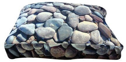 Rectangle River Rock Dog Pillow by Dogzzzz