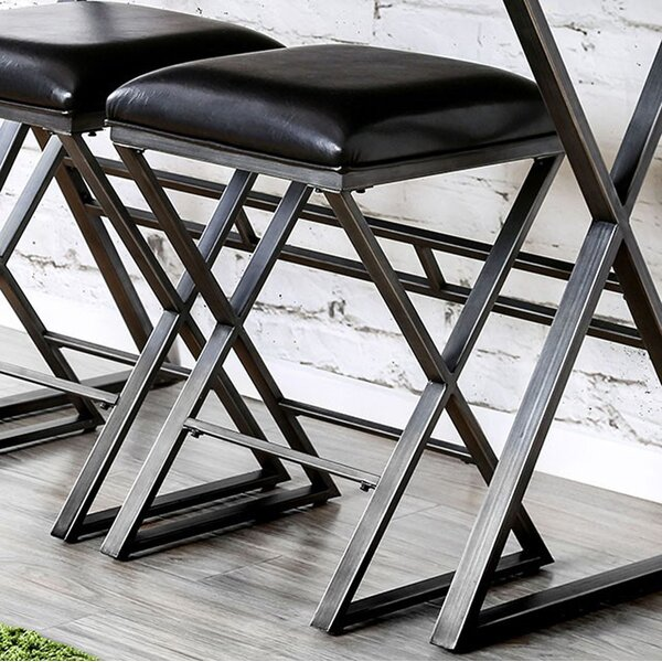 Cateline Industrial 24 Bar Stool (Set of 2) by 17 Stories