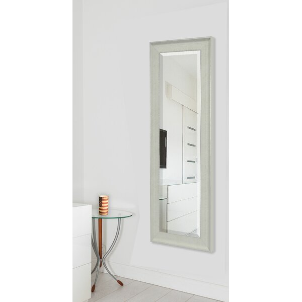 Dalessio Vintage White Floor/Wall Mirror by Wrought Studio