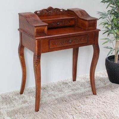Shangri-La Hand Carved Wood End Table With Storage By International Caravan