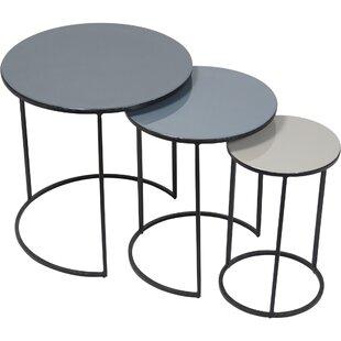Moniz 3 Piece Nesting Tables by Latitude Run