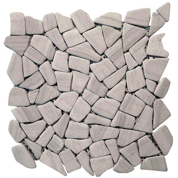 Haisa Random Sized Marble Pebble Tile in Haisa Dark by Solistone
