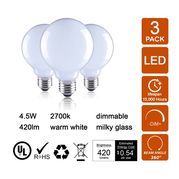 40W E26 Dimmable LED Globe Light Bulb by Retrofit Lighting