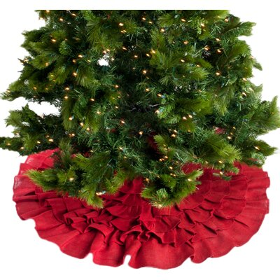 Ruffled Christmas Tree Skirt by The Holiday Aisle