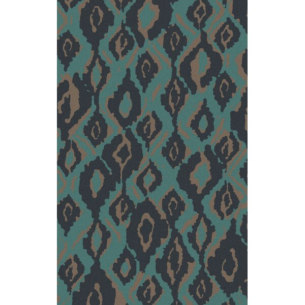 Mann Hand Woven Wool Blue Area Rug by Bloomsbury Market