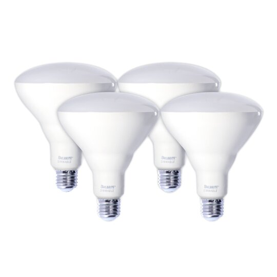 E26 Dimmable LED Spotlight Light Bulb Frosted (Set of 4) by Bulbrite Industries
