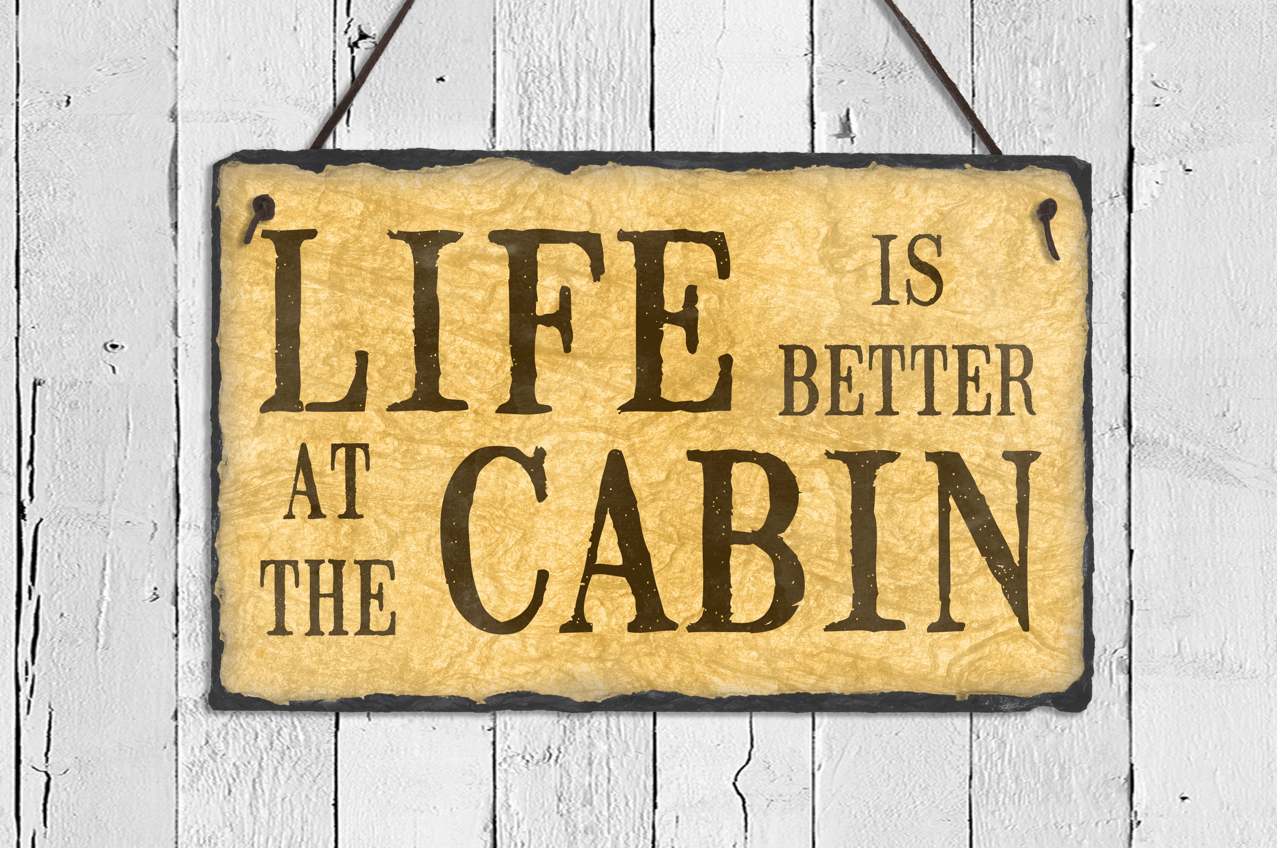 SassySquirrelInk Life is Better at the Cabin Wall Décor & Reviews ...