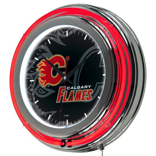 NHL Watermark Neon 11 Wall Clock by Trademark Global