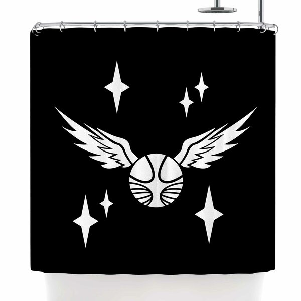 Jackie Rose Golden Snitch Shower Curtain by East Urban Home