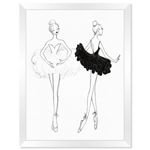 Ballerina Sketch Wall Art | Wayfair