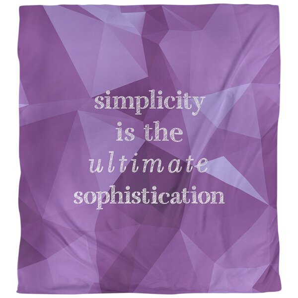 Simple and Sophisticated Quote Single Duvet Cover