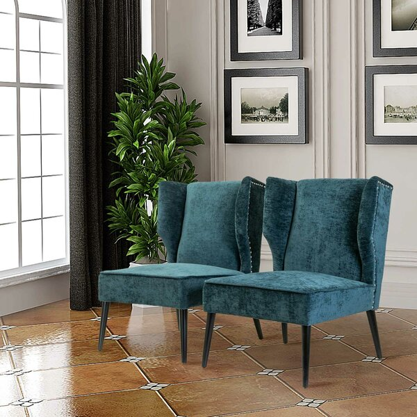 Lavaca Wingback Chair (Set of 2) by House of Hampton