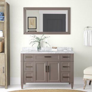 Compare prices Lachine Marble 48 Single Bathroom Vanity with Mirror ByGracie Oaks