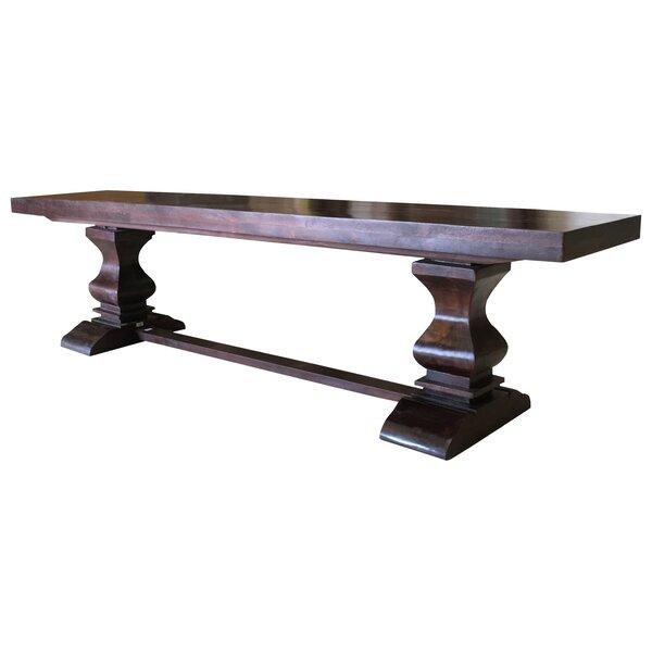 Maliyah Pedestal Wood Bench by Longshore Tides Longshore Tides