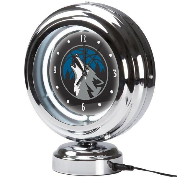 NBA City Neon Table Clock by Trademark Global