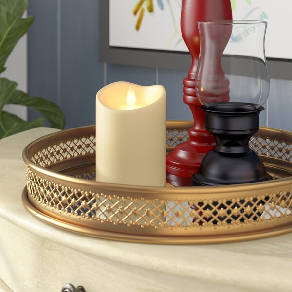 Flameless Pillar Candle by Three Posts