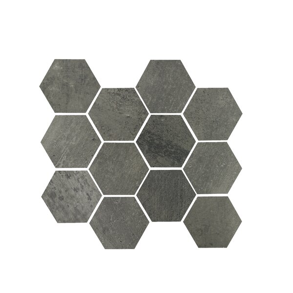 3.25 x 3.25 Porcelain Mosaic Tile in Gun Powder by Madrid Ceramics