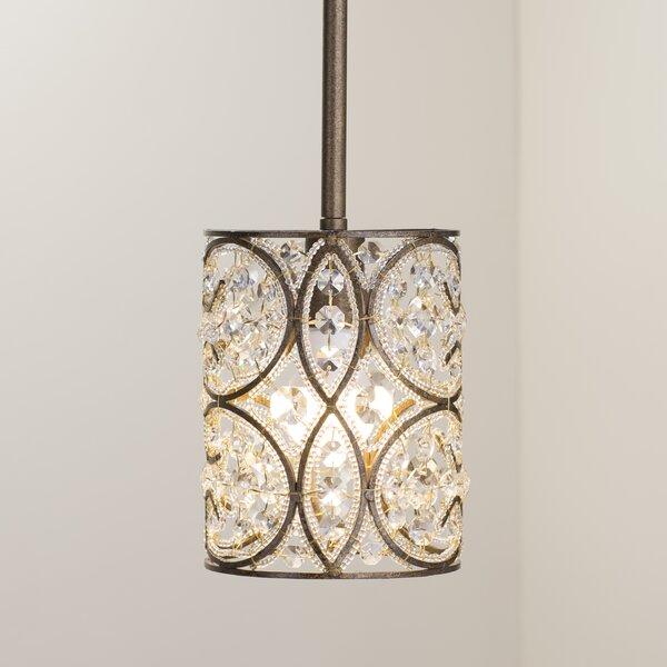 Manigault 1-Light Crystal Pendant by Lark Manor