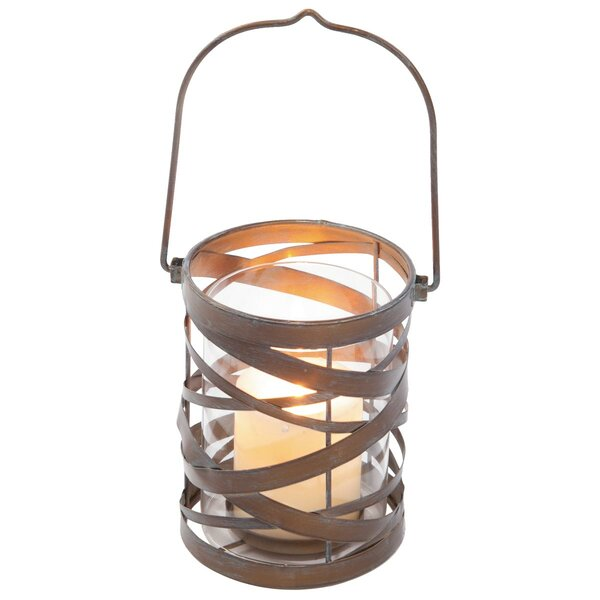 Coil Metal Lantern by Foreside Home & Garden