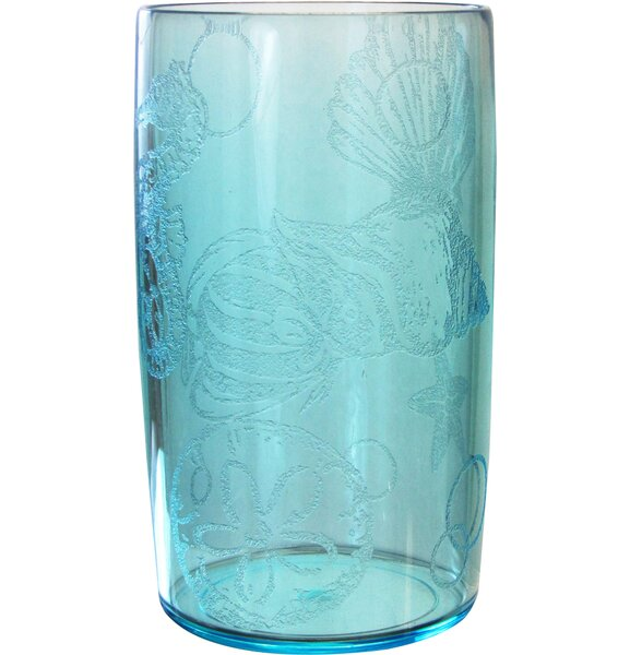 Oceanic 14 oz. Plastic Every Day Glass (Set of 4) by LeadingWare Group, Inc