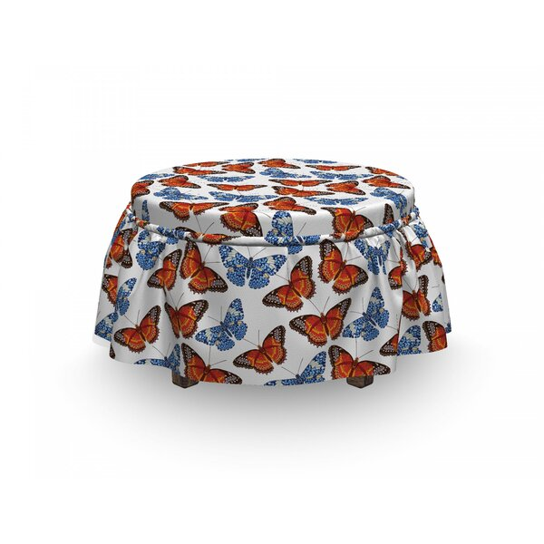 Detailed Winged Insect Ottoman Slipcover (Set Of 2) By East Urban Home