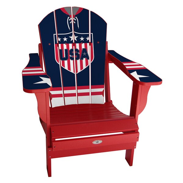 USA Classic Home Plastic Folding Adirondack Chair by My Custom Sports Chair