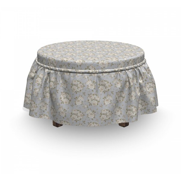 Romantic Roses In Bloom Ottoman Slipcover (Set Of 2) By East Urban Home