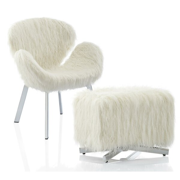 Estelle Side Chair and Ottoman by CosmoLiving by Cosmopolitan