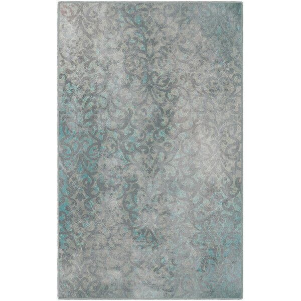 Jenna Trellis Blue Area Rug by Bungalow Rose