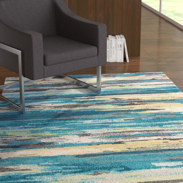 Romriell Oriental Blue Area Rug by Latitude Run
