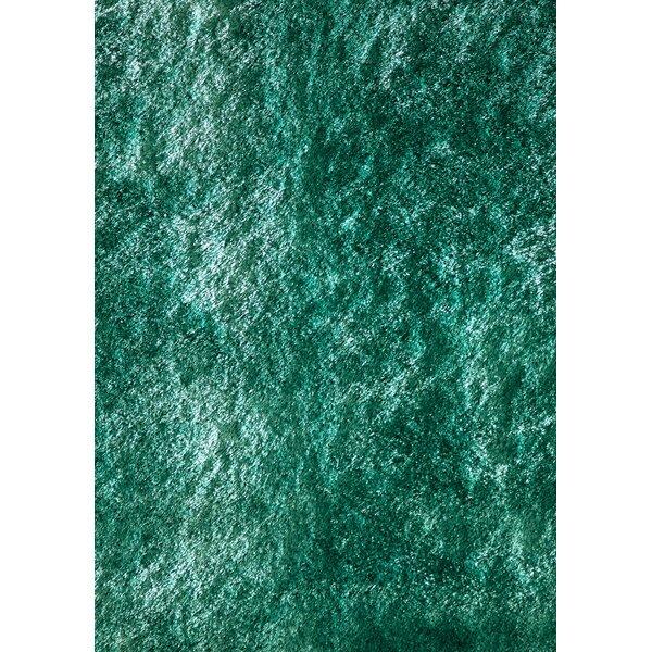 Ciera Hand-Tufted Teal Area Rug by Orren Ellis