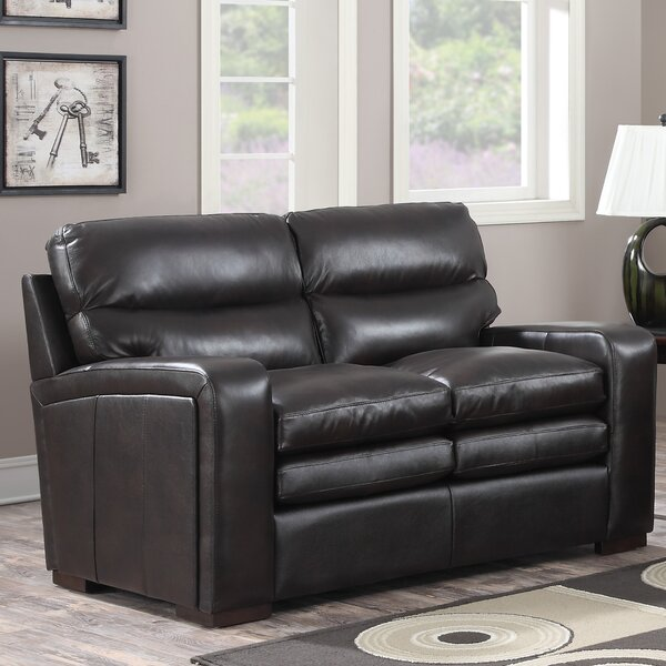 Womac Leather Loveseat by Latitude Run