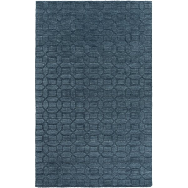 Grange Hand-Woven Teal Area Rug by Alcott Hill