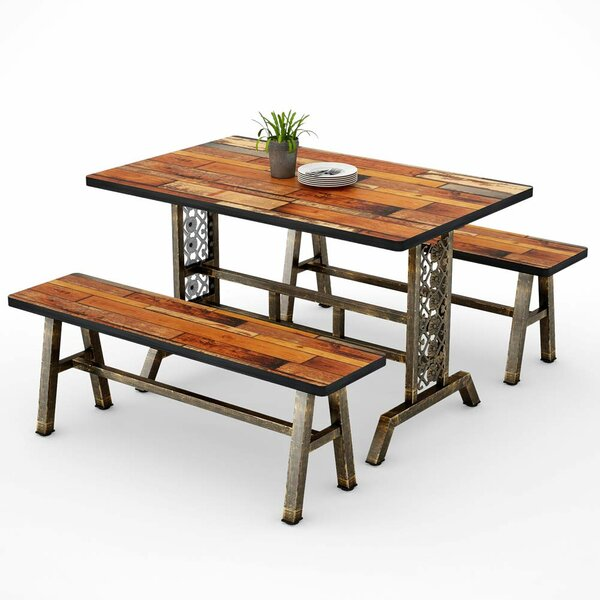 Cherry 3 Piece Dining Set by Millwood Pines