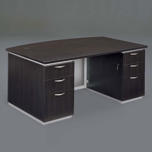 Pimlico Bow Front Executive Desk by Flexsteel Contract