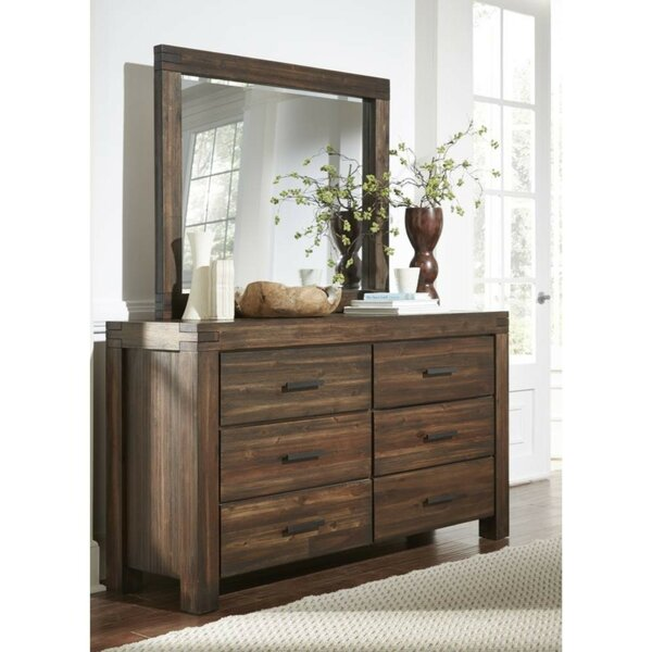 Brigman Wooden 6 Drawer Double Dresser by Loon Peak