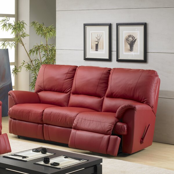 Mylaine Leather Reclining Sofa by Relaxon