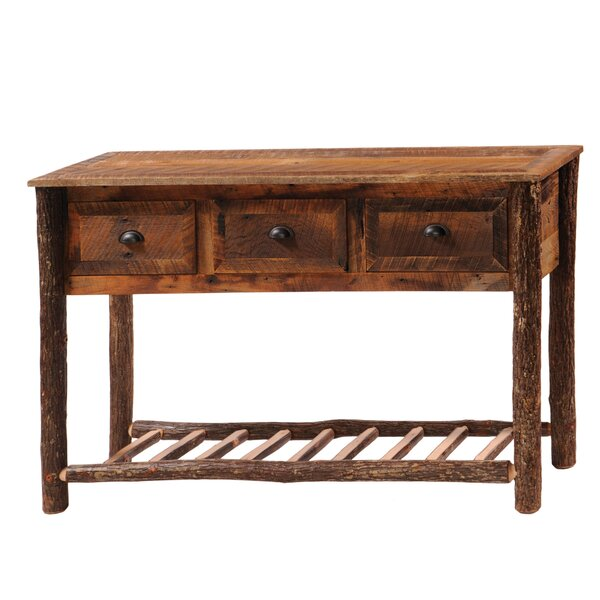 Derecho Three Drawers Console Table By Union Rustic