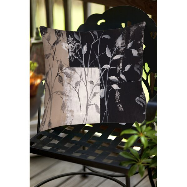 African Leaf Abstract Indoor/Outdoor Throw Pillow by Manual Woodworkers & Weavers